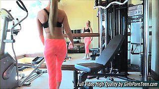 Sydney hot porn solo blonde gym work topless