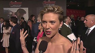 Scarlett Johansson   Cleavage at Avengers Premiere