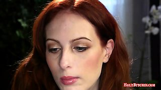 Mistress fucking her obedient redhead slave