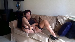 Christina in stockings