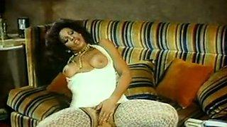 Naughty and fine classic dark skin bimbo with big natural breasts