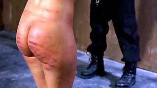severely whipped and caned in public