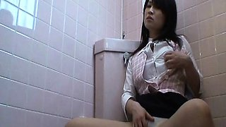 Amateur Office Girl Toilet Onanism