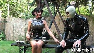 kinky mistress foot fucks ass segment