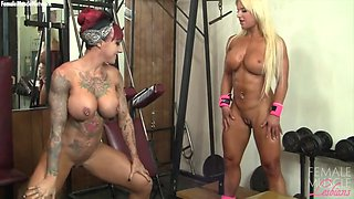 dani and megan andrews avalon in the gym can not stop playing