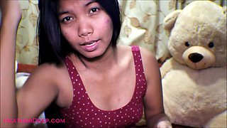 16 week pregnant thai teen heather deep dido creamy squirt alone in the living room