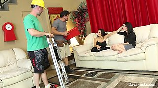 Four Wiith dava foxx, ava addams and two hobbyists