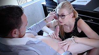 Boss Nails Obedient Secretary Alexa Grace