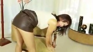 Milf roni crotchless pantyhose