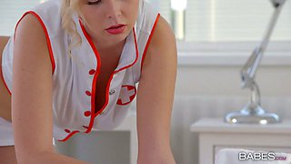 Sexy nurse Nikky Dream gets drilled in doggy style