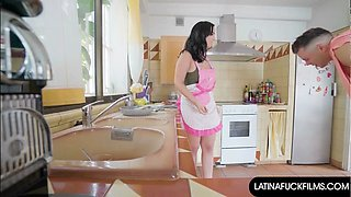 Claudia Bavel  Sucking Cock In The Kitchen