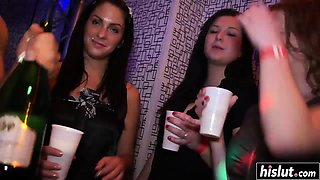 Girls at the party have some fun
