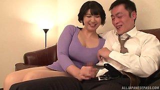 Asian girl Yagi Michika enjoys sucking a stiff delicious dick
