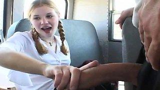 Innocent schoolgirl gets vagina fingered and drilled deep