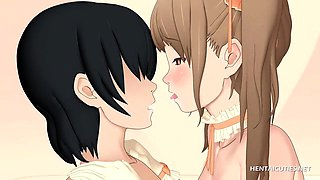 3D Anime doll giving BJ and getting a messy facial