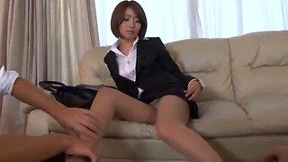 Hottest Japanese model Yuna Hasegawa in Horny Threesomes, Blowjob/Fera JAV video