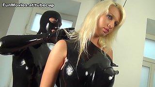 Tanja & Linda Blond in Luscious Latex Tits - FunMovies