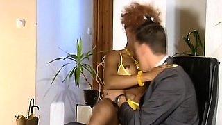 African sluts taking long schlongs in pussies