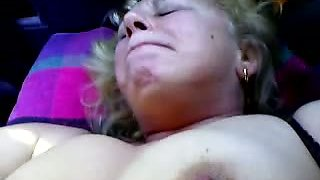 Aunt Angela has fun with young nephew. Hot sex.