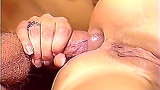 Sweet insatiable brunette woman wants hardcore sex with a blonde stud