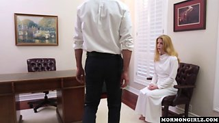 Blonde beauty craves to get that huge rod of her doctor between her legs in different positions