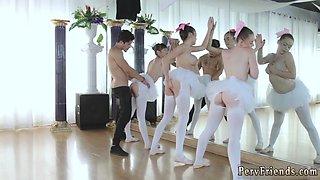Group of girls humiliated Ballerinas