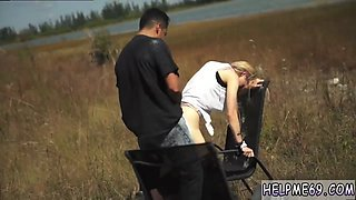 Extreme first time Helpless teen Lily Dixon is lost and found a few chairs out in an