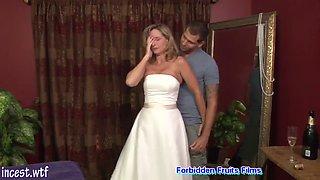 Fucked in wedding gown by her son