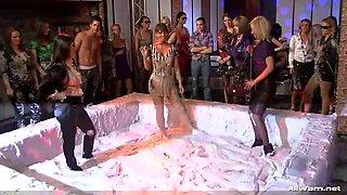 reality lesbian mud wrestling show