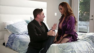 Fucking hot red haired milf Ariella Ferrera enjoys having passionate sex