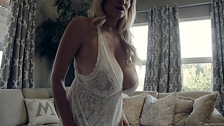 Kelly Madison fondling her big natural tits lovely