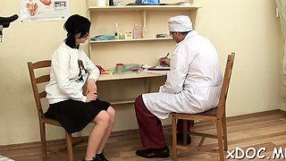Sassy gal visited her lustful doctor and they had sex