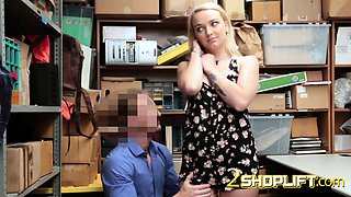 Innocent blonde Carmen gets fucked hard by investigator