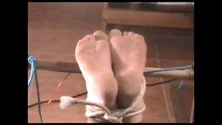 Hard Feet punishment for my slave Sue