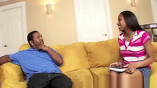 RealBlackExposed - Sweet black teen meets monster dick