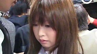 Hottest Japanese model Mizuki Akiyama, Anna Mutsumi, Hina Umehara in Horny Bus JAV movie