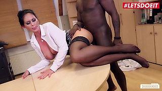 LETSDOEIT - Big Tits German Secretary by BBC Repairman