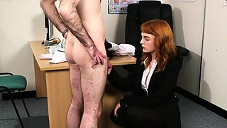 Frisky babe gets sperm load on her face swallowing all the s