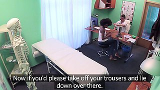 Fake Hospital Doctor gives sexy ebony Brazilian studen