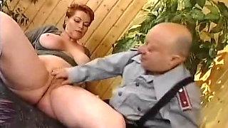 German MILF Kira Red Rough Fucked by Midget