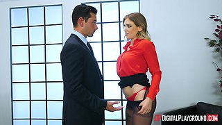 Giselle Palmer is a cock craving businesswoman ready to ride a dick