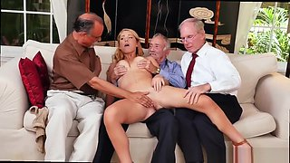 Old man small girl and brutal old man and old man handjob and old man