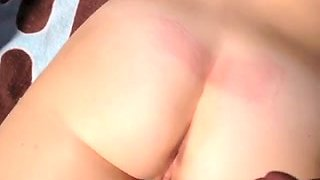 Cumming on the white milf booty of my mature wifey