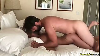 Amazing MILF has a young guy in her bed