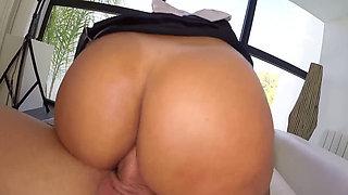 sexy maid fucks for money