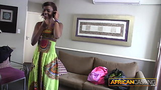 African Beauty Licks Ass for a Job