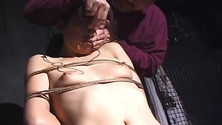 Kinky slut gets roughly tied up and abused