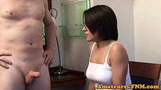 Dominant schoolgirl enjoys CFNM scene