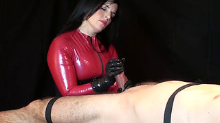 Rubbergloved Handjob!!!!