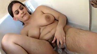 Hairy Indian Rani Masturbate With Dildo In Bath Room Bathtub